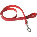 Laisse bords ronds en cuir - 100 cm - rouge