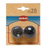 Lot de 2 embouts anglais boule - D:20 mm - noyer