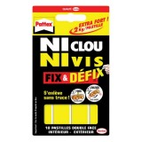 Pastille double face - Ni Clou Ni Vis fix et defix - lot de 10
