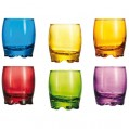 Lot de 6 verres Adora - 27.5 cL - 6 couleurs - F9880 - Arc
