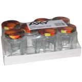 Lot de 6 confituriers + couvercle - 440 mL