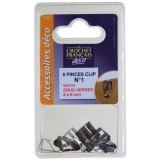Pince clips - lot de 6 - 3 à 6 mm