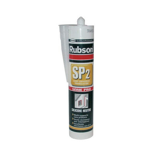 Mastic universel SP2 - transparent - 300 mL - 969100 - RUBSON