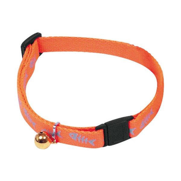 Collier réglable Fluo Fish - 25/35 cm - orange - 11930 3 - RENE MARTIN