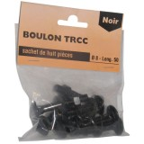 Boulon TRCC noir - 8x50 mm - lot de 8