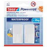 Crochet blanc + powerstrips waterproof - lot de 2