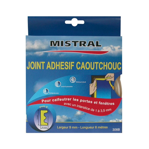 Joint adh sif profil e blanc 6 m 166561 mistral for Joint isolation fenetre
