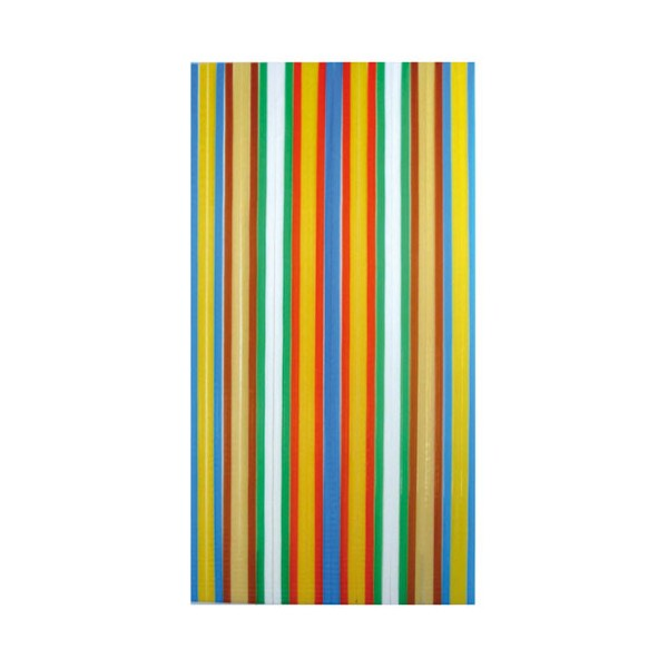 Rideau de porte poly thyl ne 90x200 cm multicolore morel for Peinture anti mouche