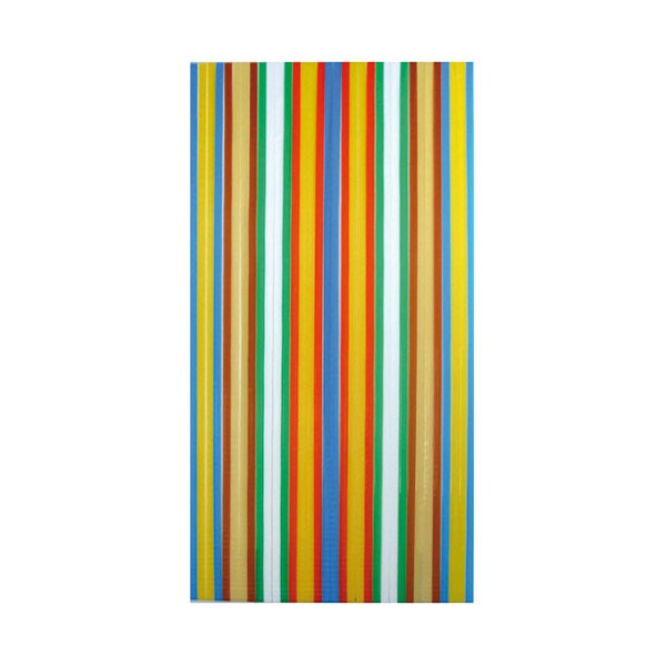 Rideau de porte poly thyl ne 90x220 cm multicolore morel for Peinture anti mouche