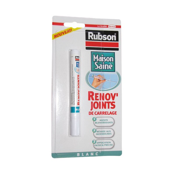 R nov 39 joint carrelage blanc 7 ml 1767085 rubson for Joint pour carrelage