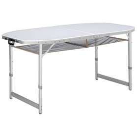Table aluminium Dakota - 150x80x57 cm