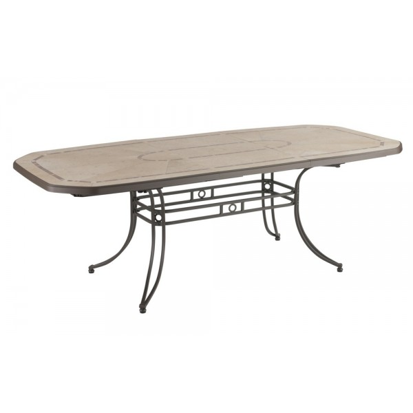 Table Amalfi  avec allonge 165/220x100 cm - bronze - 52764037 - GROSFILLEX