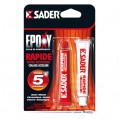 Colle époxy rapide - 15 mL - lot de 2 - 30601291 - Sader