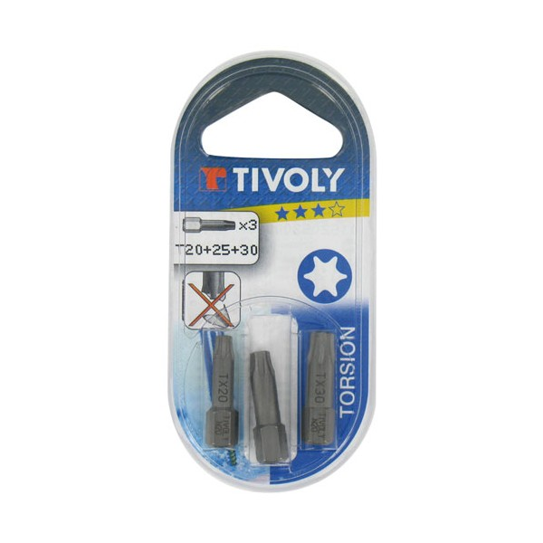 Embouts pour vis Torx - n°20-25-30 - 11520520001 - TIVOLY