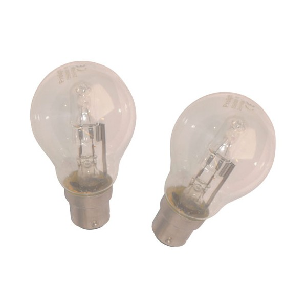 Lot de 2 ampoules halogènes standards Eco B22 - 42 W - 559900006 - PROLIGHT