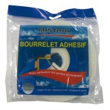 Bourrelet mousse - blanc - 12 mm x 10 m