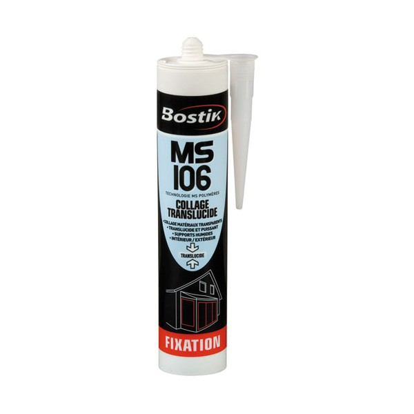Mastic fixation MS 106 - invisible - 290 mL - 30601522 - BOSTIK PRO