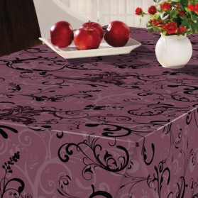 nappe ronde fibranne d 180 cm abarabesque swirl violet 29e 01 bonita home boulevard. Black Bedroom Furniture Sets. Home Design Ideas