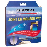 Joint mousse PVC - blanc - 9 mm x 6 m