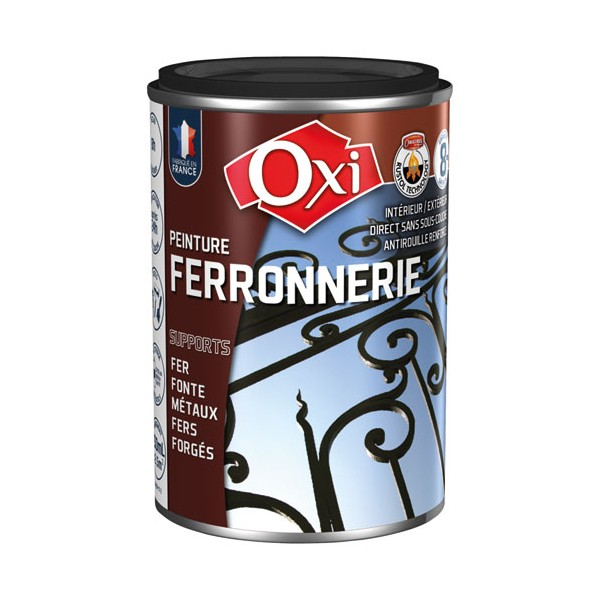 peinture ferronnerie 250 ml noir extra mat nferem 250 oxi. Black Bedroom Furniture Sets. Home Design Ideas