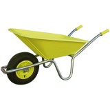Brouette Cosmoz roue gonflable  - 90 L - vert anis