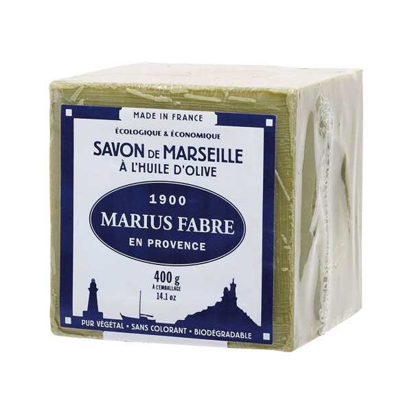 savon de marseille huile olive 400g 400v marius fabre home boulevard. Black Bedroom Furniture Sets. Home Design Ideas