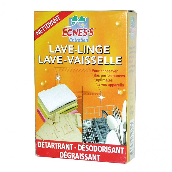 nettoyant pour lave vaisselle et lave linge 250 g ecness home boulevard. Black Bedroom Furniture Sets. Home Design Ideas