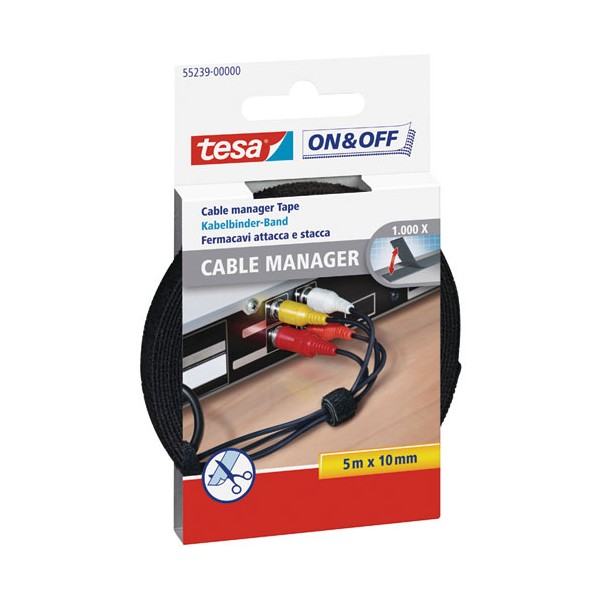 Cable manager On & Off - large - 55239-00000-01 - TESA