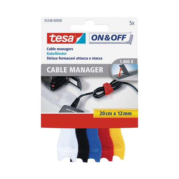 Cable manager On & Off - petit - 55236-00000-01 - TESA