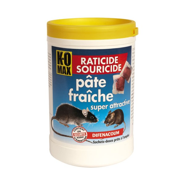 Raticide souricide - pâte - 400 g - XP400 - KOMAX