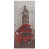 Rideau de porte Big Ben bus rouge - 90x200 cm