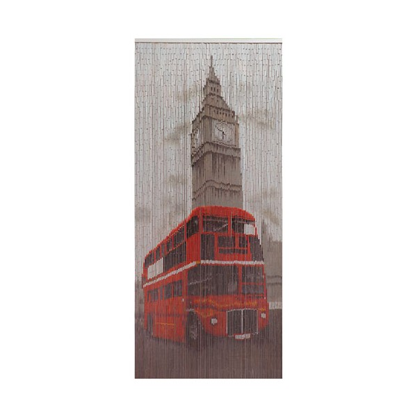 Rideau de porte Big Ben bus rouge - 90x200 cm - E211 LONDRES - MOREL