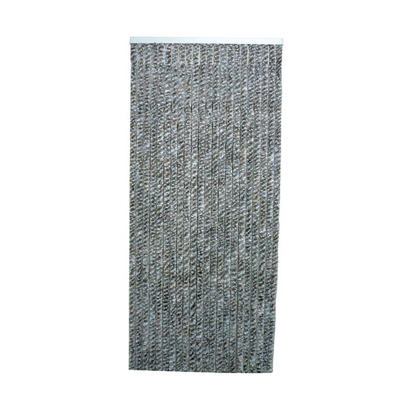Rideau de porte Flash chenilles 90x220 cm - gris - FLASH C109 - MOREL