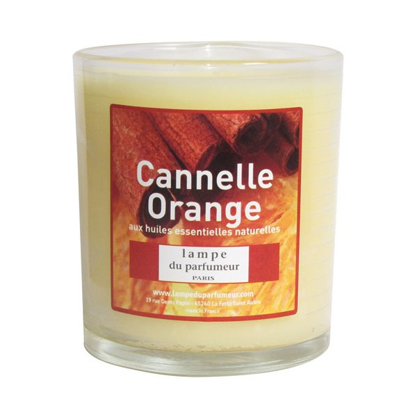 Bougie parfumée - cannelle orange - 411 - LAMPE DU PARFUMEUR