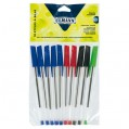 Stylo bille de couleur - lot de 10 - 650071 - Ulmann