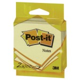 Bloc Post'it - 76x76 mm - lot de 2