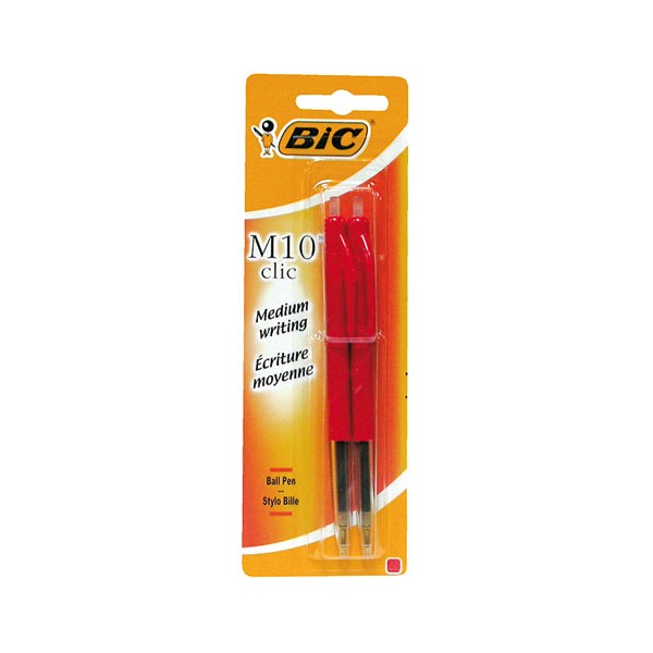Stylo bille M10 rouge x2 - 802065 - BIC