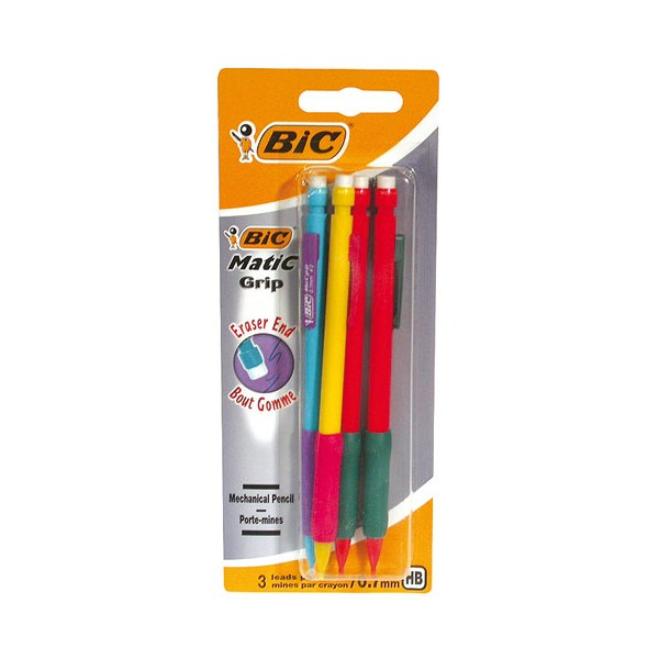 Porte-mines Matic grip 0.7 mm x4 - 880409 - BIC