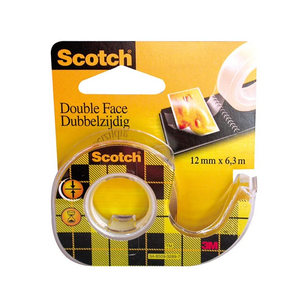 Ruban adhésif double face - 6.3 m x 12 mm - 136D - SCOTCH