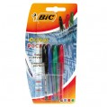 Mini stylo bille cristal assorti x4 - 802889 - Bic