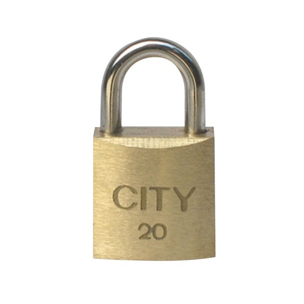 Cadenas laiton 20 mm - 2 clés - 02021901CA - CITY