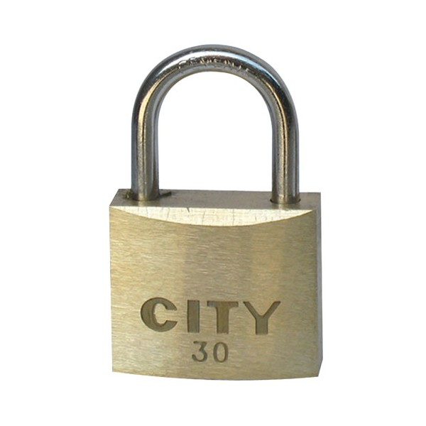Cadenas laiton 30 mm - 2 clés - 02032001CA - CITY