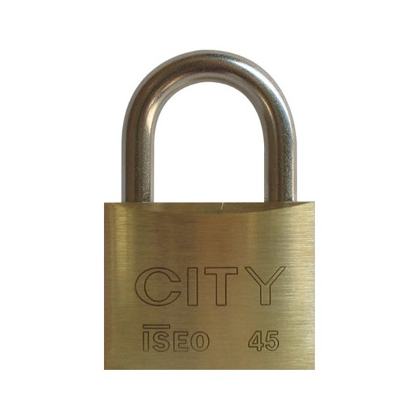 Cadenas laiton 45 mm - 2 clés - 02052201CA - CITY