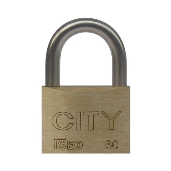 Cadenas laiton 60 mm - 2 clés - 02062301CA - CITY