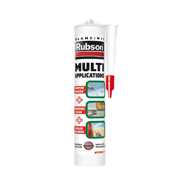 Mastic multi-usages - 280 mL - gris - 2003002 - RUBSON