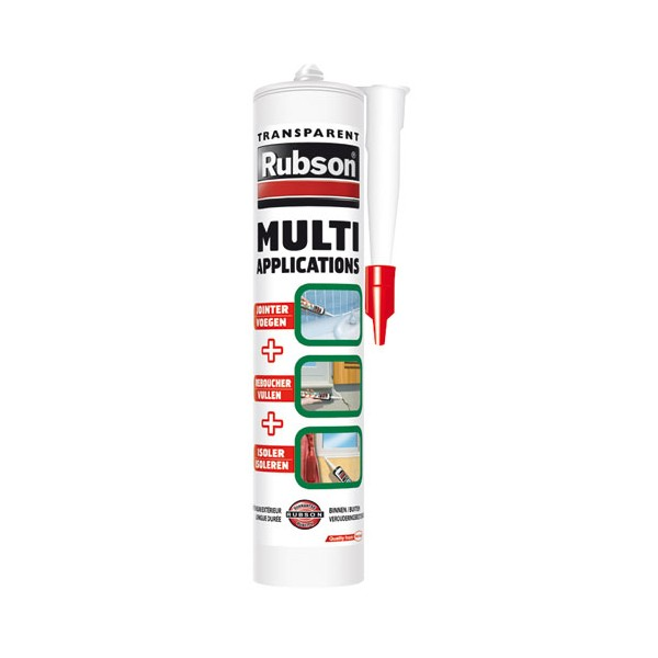Mastic multi-usages - 280 mL - translucide - 1680058 - RUBSON