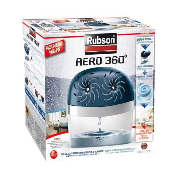 Absorbeur Aéro 360° stop 40 m² + 2 recharges - 2012041 - RUBSON