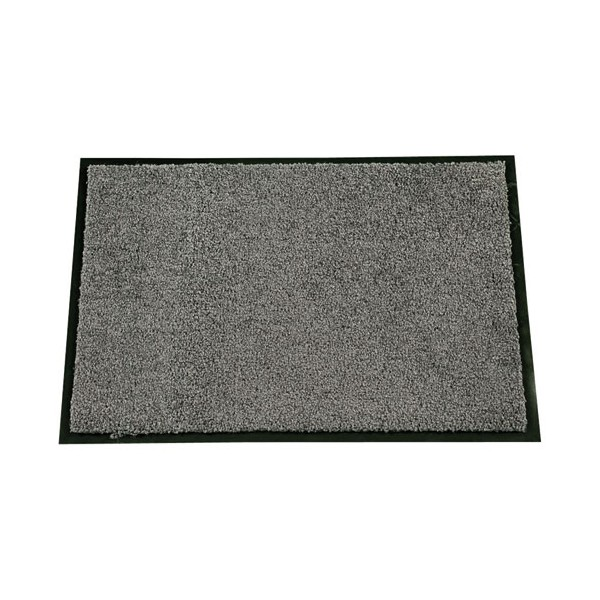Tapis absorbant mirande 40x60 cm gris id mat home for Tapis de cuisine absorbant