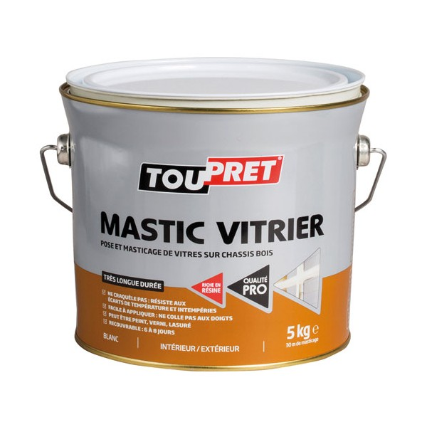 mastic vitrier blanc 5 kg lsmabla05 toupret home boulevard. Black Bedroom Furniture Sets. Home Design Ideas