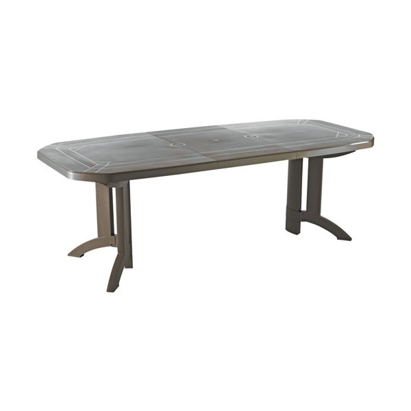 Table de jardin vega - 165/220x100 cm - taupe - 52056181 ...